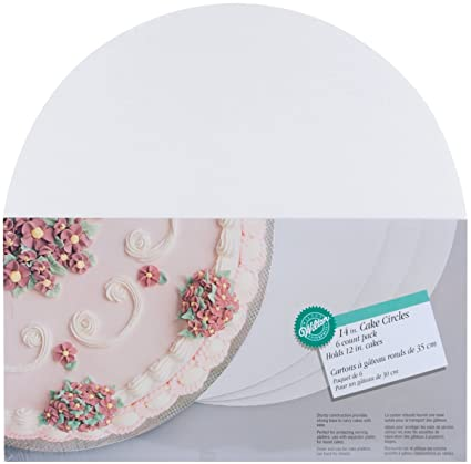 Cake Boards-14 Round White 6/Pkg