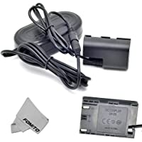 Fomito ACK-E6 AC Power Adapter + DR-E6 DC Coupler LPE6 Dummy Battery Kit for Canon EOS 5D2 5D3 6D 60D 7D 5D Mark II III…
