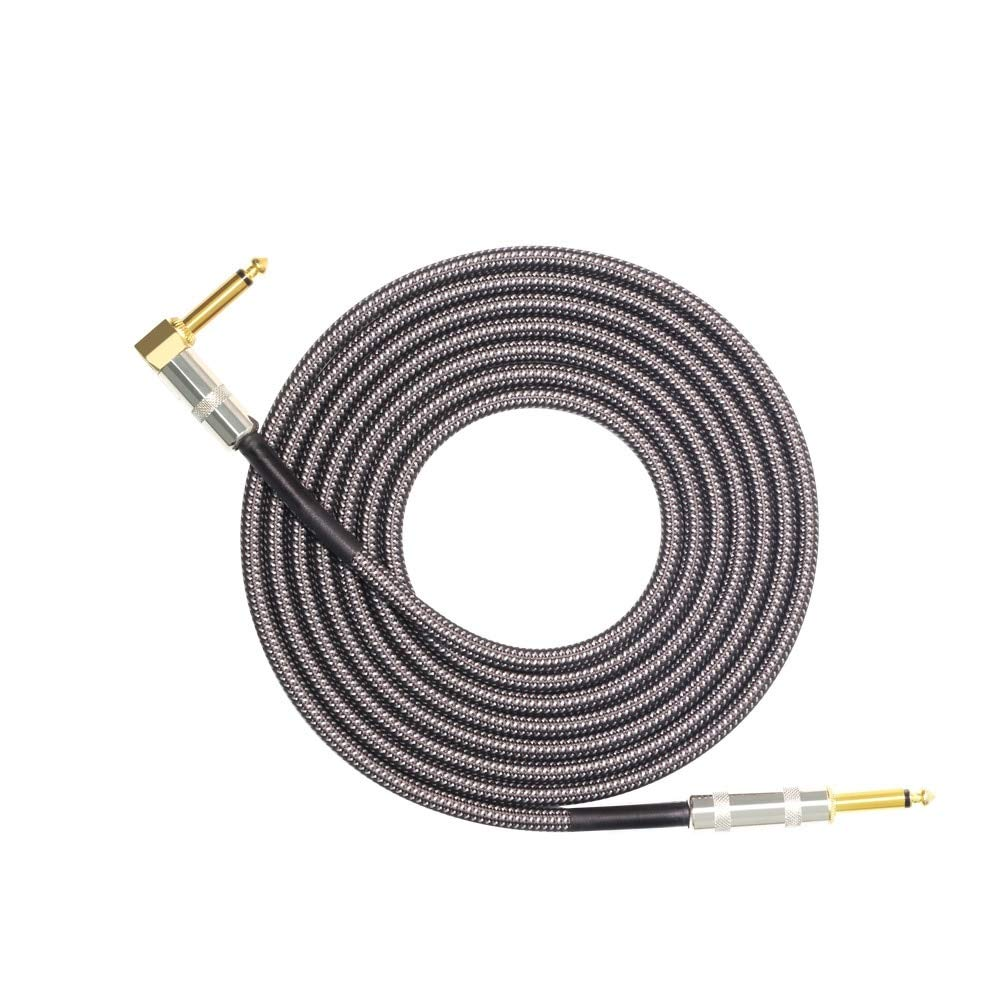 Bingo Point Audio Cable Mono 6.5mm to 6.5mm 1/4'' TS Jack 6.3 6.35mm to 6.35mm Male to Male Electronic Organ Guitar Cable OFC Braided 3M