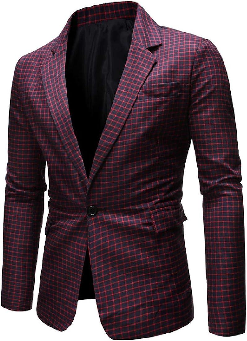 KLJR Men Notched Lapel Sequin Club One Button Casual Suit Pants