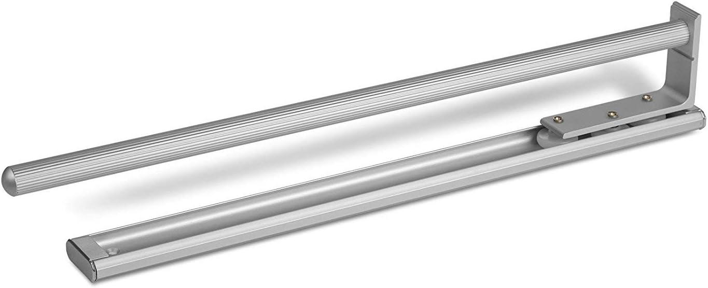 SO-TECH/® Portasciugamani Con 1 Guida Cromata Estraibile da 440 mm