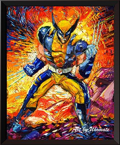 Uhomate Superhero X-Man Wolverine Wall Decor Vincent Van Gogh Starry Night Posters Home Canvas Wall Art Print Anniversary Gifts Baby Gift Nursery Decor Living Room Wall Decor A077 (11X14) 11 X 14 Van