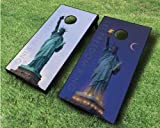 Let Freedom Ring Cornhole Set, 2x4 ACA, Wood, Handmade, Portable