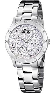 0e6bdc30392a Lotus Watches Reloj Análogo clásico para Mujer de Cuarzo con Correa en  Acero Inoxidable 18569