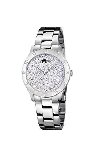 478fc316bda2 Lotus Watches Reloj Análogo clásico para Mujer de Cuarzo con Correa en  Acero Inoxidable 18569 1  Amazon.es  Relojes