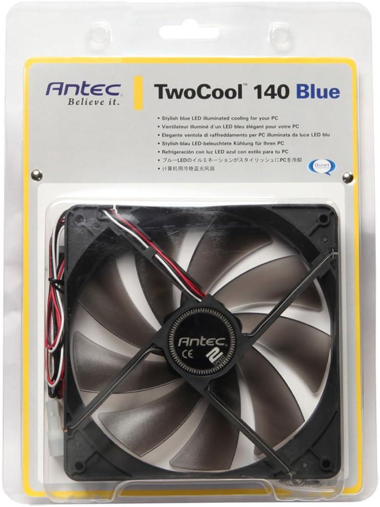 Antec TwoCool 140mm Blue LED Cooling Fan