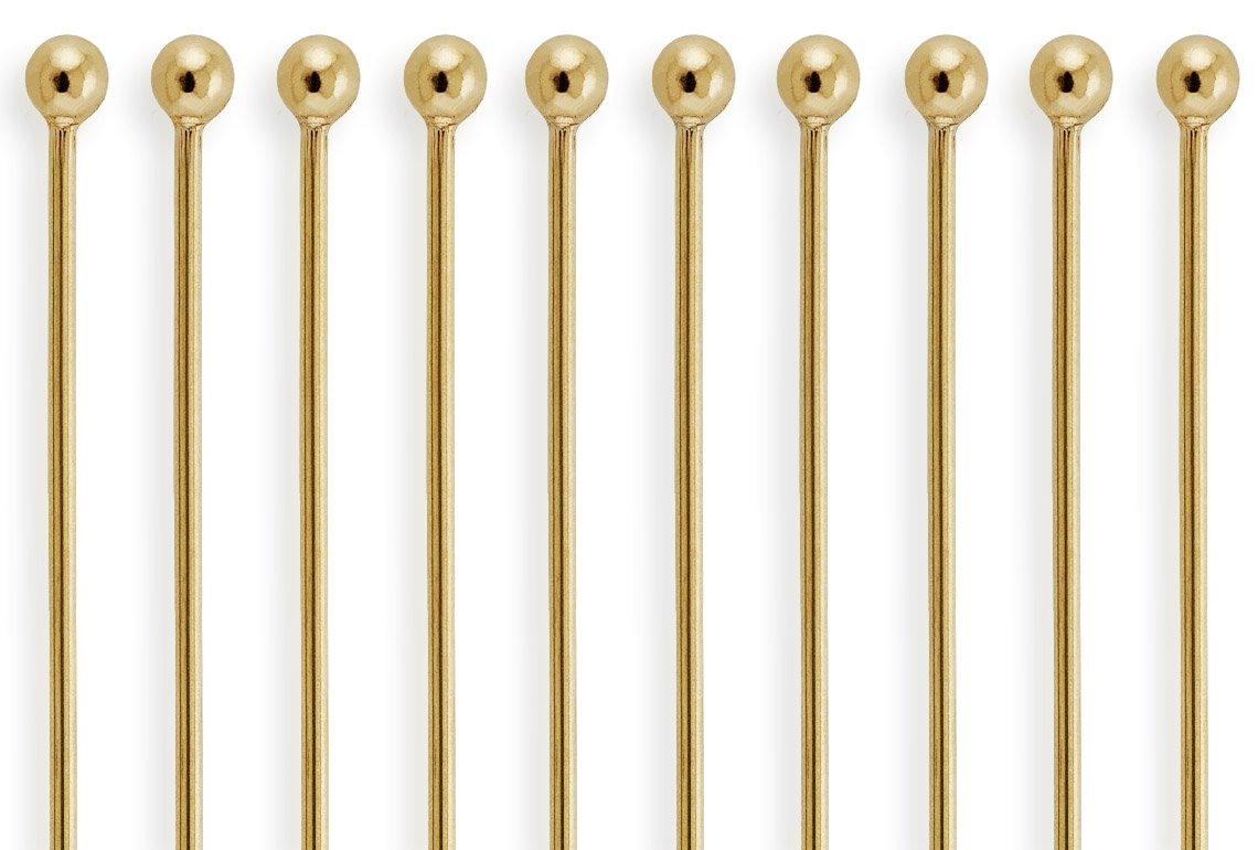 50 Pieces 14Kt Gold Filled Ball End Head Pins 26 Gauge 2 inch houseofgems