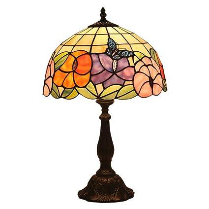 Amazon.com: Lámpara de mesa estilo Tiffany en cristal de ...