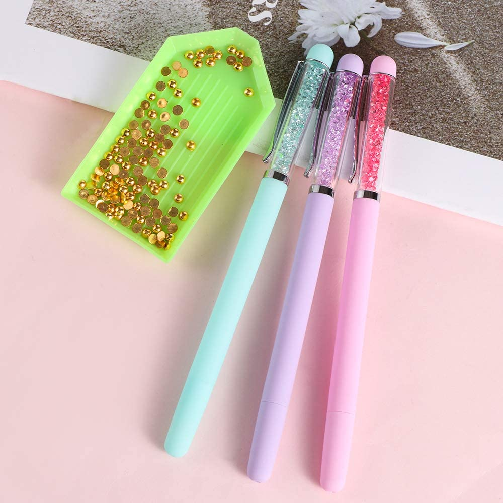 thanksky Crystal 5D Diamond Painting Pen Pink DIY Point Drill Crafts,Embroidery Pens,Sewing Cross Stitch Accessories 1pc