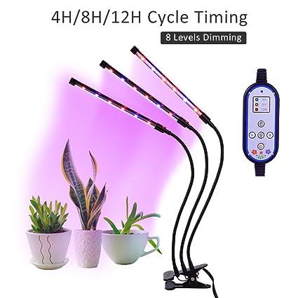 Amazon.com: Luces LED de crecimiento para plantas interiores ...