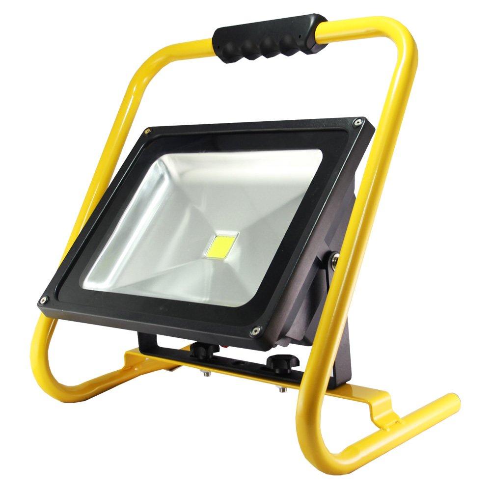 Turbo LED's light Akku Strahler 50 W Handlampe Arbeitsleuchte  RF46