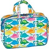 iscream 'Colorful Flamingos' 12.25'' x 8.25'' Double Handle Zippered Cosmetic Bag