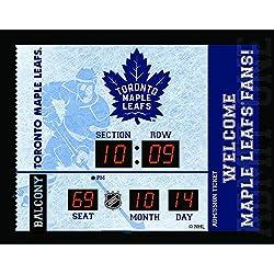 Team Sports America Toronto Maple Leafs Bluetooth Scoreboard Wall Clock