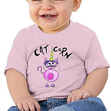 f19f2cbb4f57 Amazon.com  Cat Corn Baby Boy Clothes Short Sleeve Graphic Toddler T ...