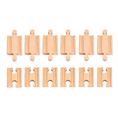 12 Pcs Wooden Train Track Male-male Female-female Adapter Pack Fits Thomas Brio Chuggington