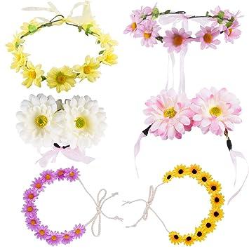Boho Women Garland Daisy Flower Floral Hairband Headband Festival Party Wedding
