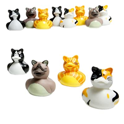 Fun Express Cat Rubber Ducks (Set of 12): Toys & Games