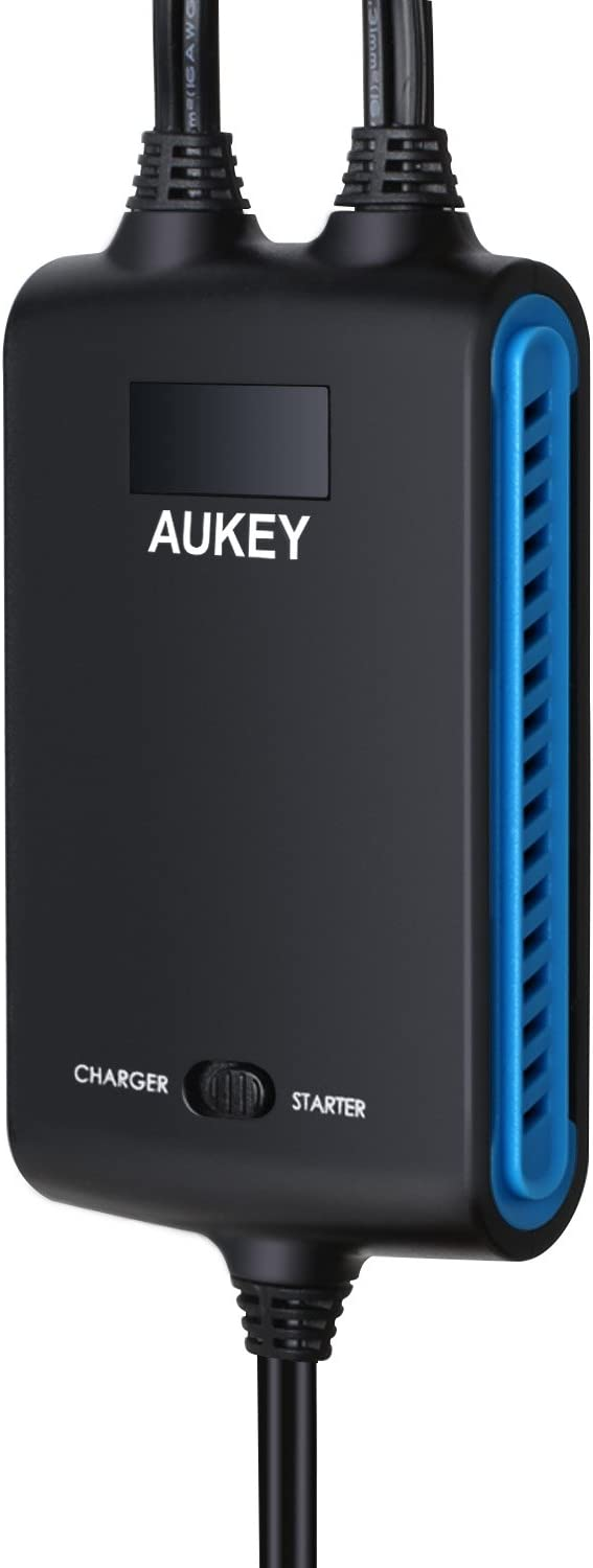 No Cable Clipping AUKEY Jumper Cables for Connecting Two Cars Including Extension Cable