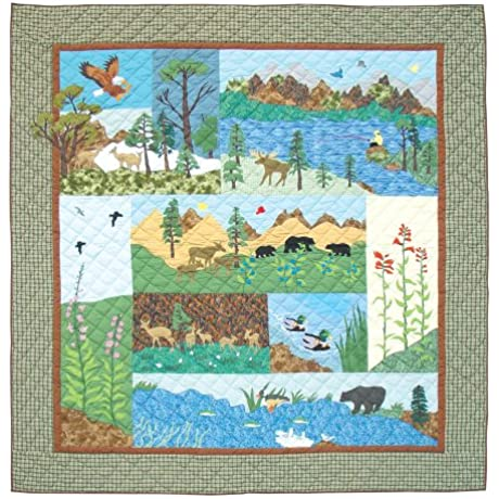 Patch Magic Twin Natures Splendor Quilt 65 Inch By 85 Inch
