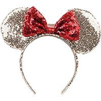 Linda De Mickey Mouse Ears Diadema De La Mariposa Del Brillo Hairband Para Niñas