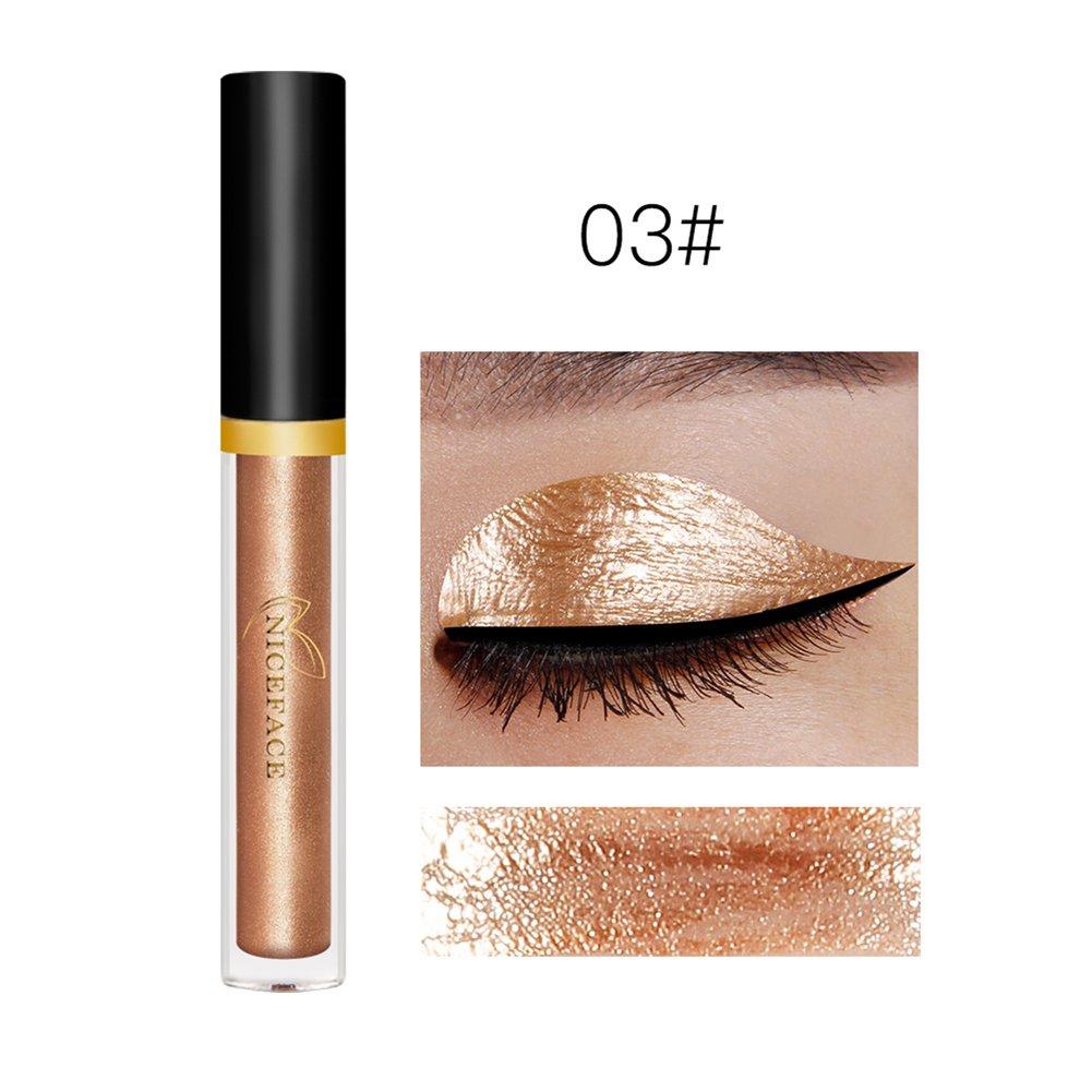 NICEFACE Sombras de Ojos Brillantes Sombras para Ojos de Líquido Cosméticos de Lentejuelas para Maquillaje de Fiestas y Celebraciones