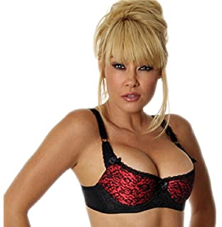 0ff0210b52902 Empire Intimates Satin w Lace Shelf Bra Open Push-up Fits Cups D and DD