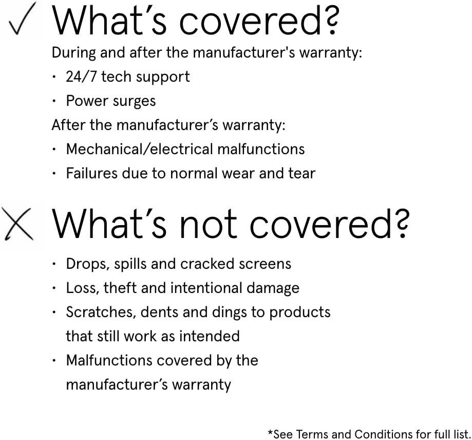 Asurion Monthly Laptop Accident Protection Plan with Tech Support $1000-1999.99