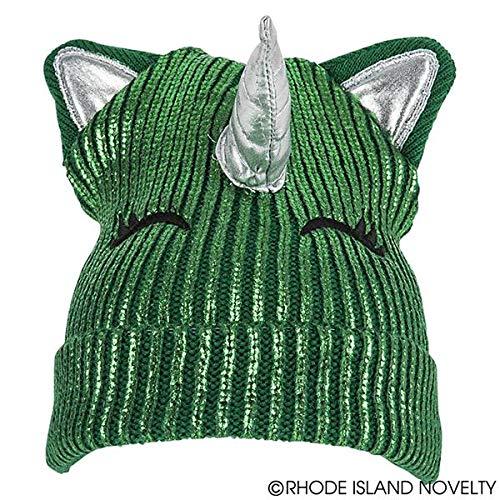 St Patrick's Day Unicorn Beanie Hat Ladies Paddy's Day Party Wear ()