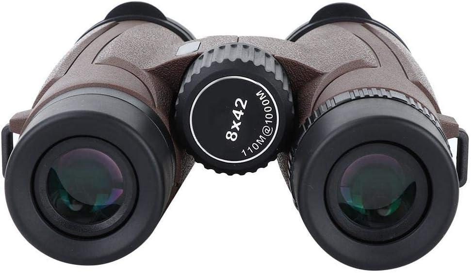 Alomejor Telescopio Binocular 8x42 HD BAK4 Binoculares Telescopio de película Verde para Viajes Turismo Senderismo