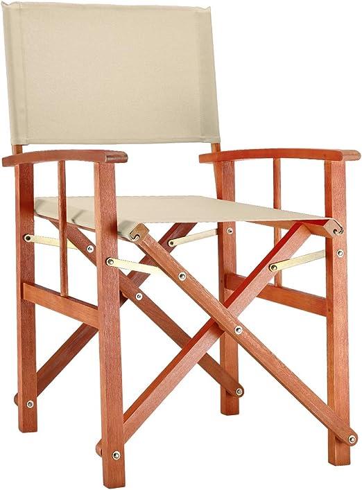 Klappstuhl Bambus für Küche und Garten Faltstuhl Gartenstuhl klappbar Holz Stuhl