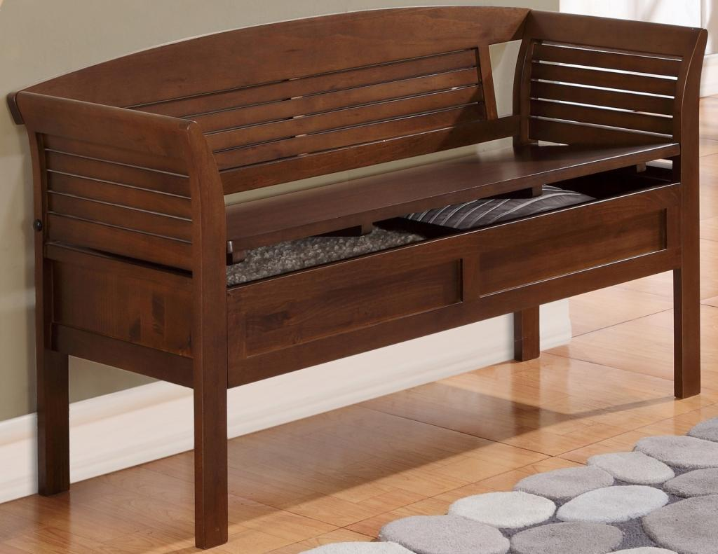 Simpli Home Arlington Entryway Storage Bench Medium Rustic Brown Home Kitchen
