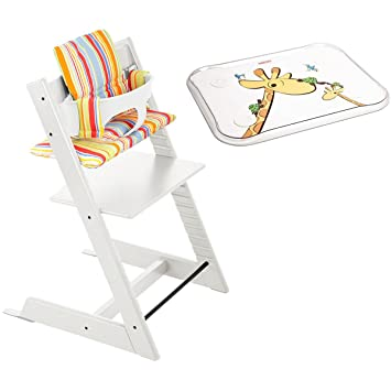 Amazon.com : Stokke Tripp Trapp Chair w Baby Set, Stokke Table Top ...