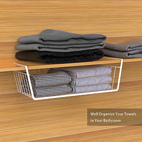 Under Shelf Basket, Ace Teah 4 Pack Under Shelf Rack, Wire Rack Under Shelf