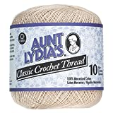 Aunt Lydia'S Classic Crochet Thread Size 10-Natural