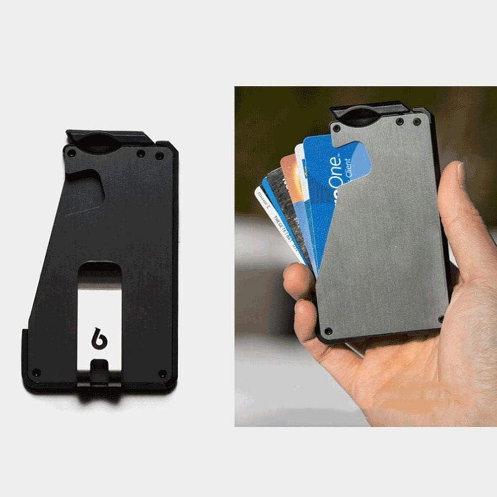 Un Porte-Carte en Aluminium de Type a/éronautique en Fibre de Carbone pour la Carte de cr/édit de la Banque Fantom