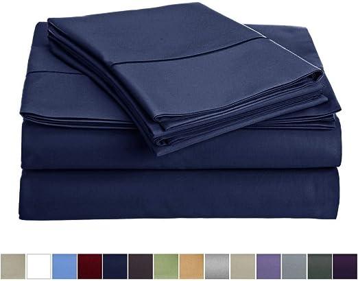 Décor the Home - Juego de sábanas de 800 Hilos, 100% algodón ...