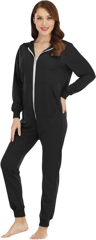 BERDITH Womens Onesie Ladies Pyjamas One Piece Jumpsuit Pajamas Thermal Nightwear Sleepwear
