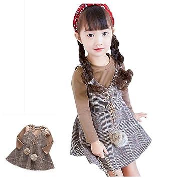 0fe4e22e4a15d 2点セット(Tシャツ+スカート)スーパー かわいい 格子 模様 ワンピース 女の子 子供