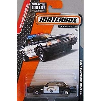 Matchbox California Highway Patrol Ford Mustang LX SSP Police Car: Toys & Games