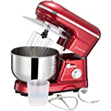 1200W Electric Food Stand Mixer,3-in-1 Beater/Whisk/Dough Hook, 5 Speeds with 5 Litre Mixing Bowl and Splash Guard