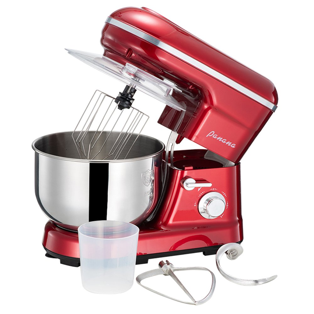 1200W Electric Food Stand Mixer,3-in-1 Beater/Whisk/Dough Hook with 5 Litre Mixing Bowl and Splash Guard,5 Speeds Beshomethings