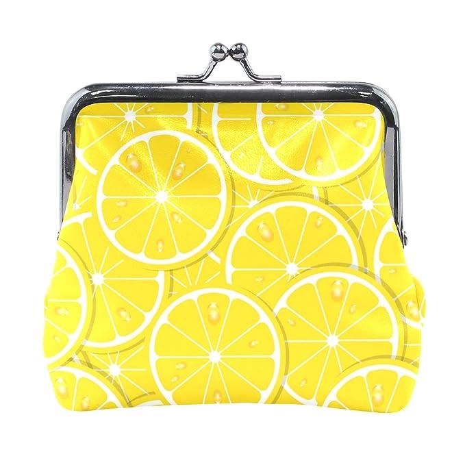 Amazon.com: Dripping Lemon Juice Fashion - Monedero clásico ...