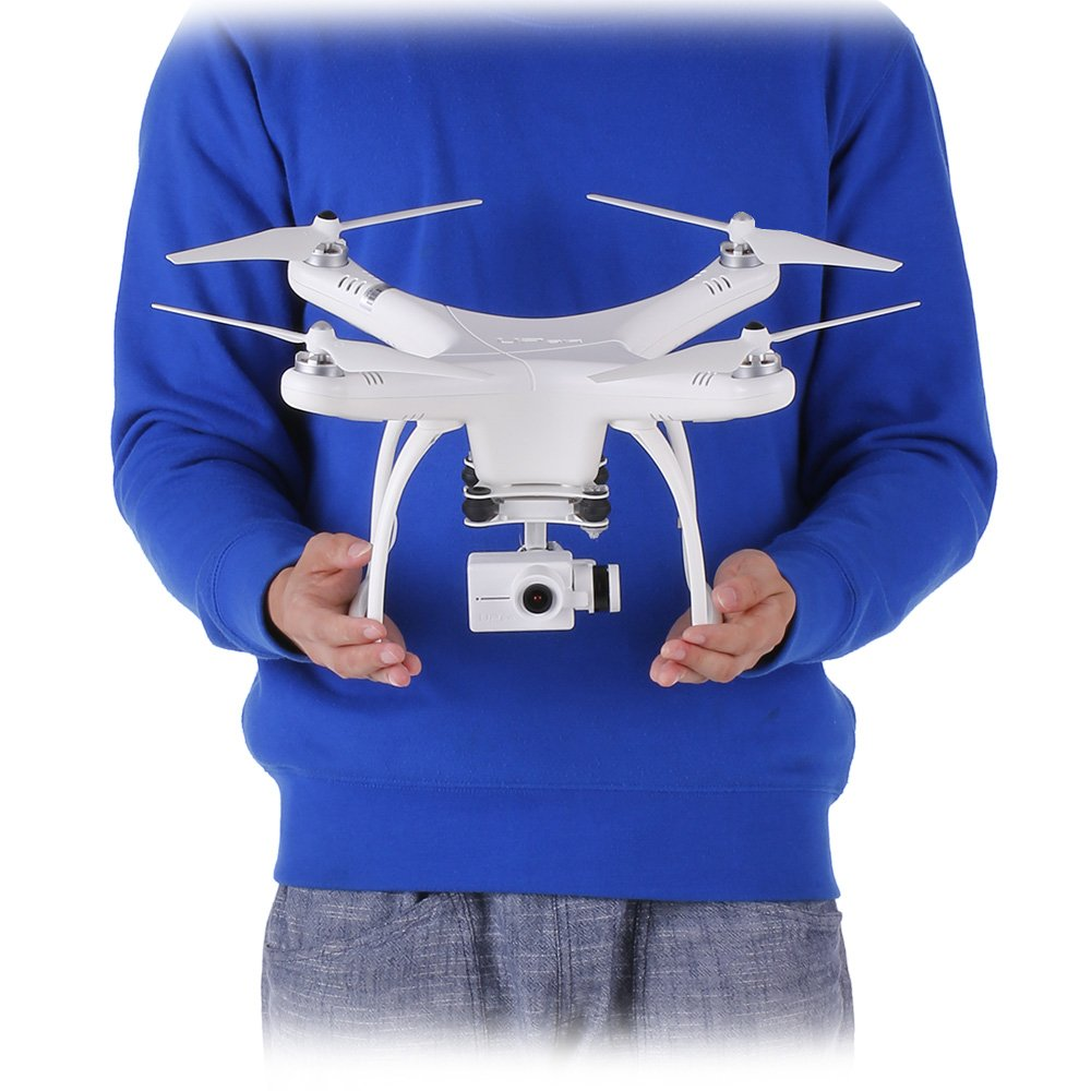 Adjustable 120/° Wide-Angle and Follow Me Function UPair One Plus RC Drone with 2.7K HD Camera Live Video WiFi Quadcopter with Altitude Hold Mode Headless Mode and GPS One Key Return Home