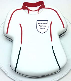 Choose Your Football Team Personalised Easy Peel Cake Topper Round ... d7ce258da