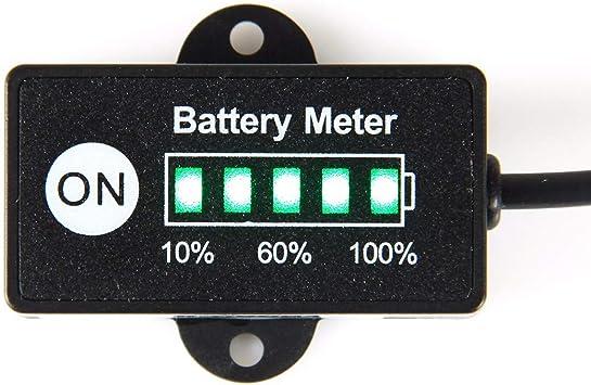 Lead Acid Battery Jayron JR-BI005 Mini LED Battery Indicator Battery Fuel gauges for General 12V 24V Battery