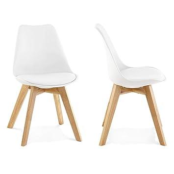 Lote 2 sillas Comedor o Cocina Wooden Blancas