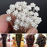 Seguryy Lot de 20 Bijoux Epingle à Cheveux en Forme de Fleur Pour Marriage /Soirée /Anniversaire