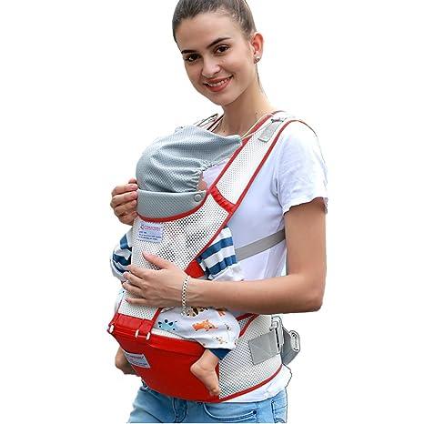 Porte-bébé, CONMING Baby Hip Seat Carrier Totalement respirant sac à dos de  transporteur a47b4ec2492