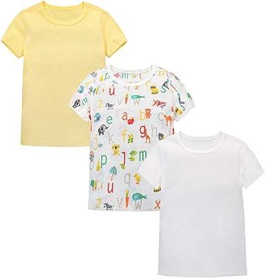 T-Shirt para Niños Bebé Pack de 3 Niños Niñas Manga Corta ...
