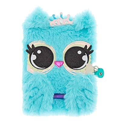 Claire's Girl's Luna The Owl Plush Lock Diary - Mint: Claire's: Home & Kitchen